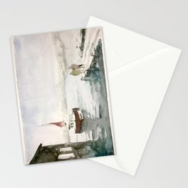 Fishing in Istanbul Stationery Cards