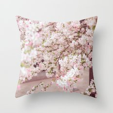 Cherry Blossom Throw Pillow