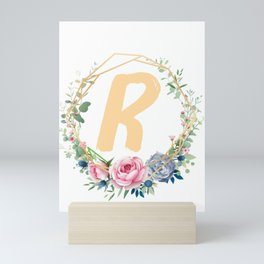 Monogrammed R Gold Mini Art Print