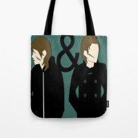 tegan and sara Tote Bags featuring tegan & sara by lizbee