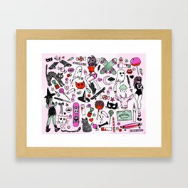 CREEPY CRUISERS Framed Art Print