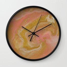 Pink Swirl, Abstract Fluid Acrylic Wall Clock