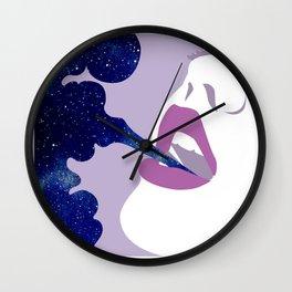 Starry Haze Wall Clock