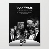 goodfellas Canvas Prints featuring GOODFELLAS by BONES ART