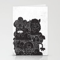 monsters Stationery Cards featuring MONSTERS by Matthew Taylor Wilson