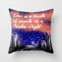 Warmth on a Winter Night Throw Pillow