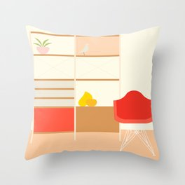 Inside mid century modern 317 Throw Pillow