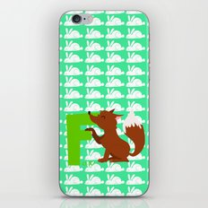 f for fox iPhone Skin