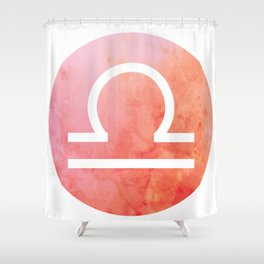 Watercolor Libra Sign Shower Curtain