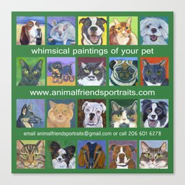 Animal Friends Promo Bag Canvas Print