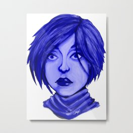 Blue Dreams. Metal Print