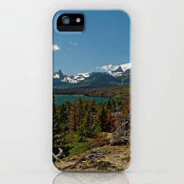 Images USA Saint Mary Glacier NP Nature Spruce Autumn mountain park Lake landscape photography Mountains Parks Scenery iPhone Case