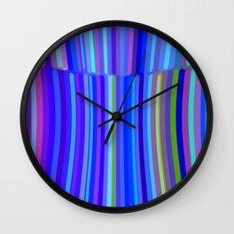 New Year Stripes Wall Clock