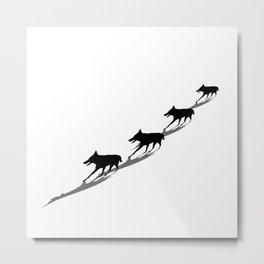 Herd of wolves Metal Print