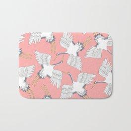 Pink Cranes Bath Mat