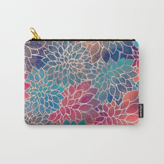 Floral Abstract 8 Carry-All Pouch