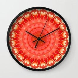 Mandala strong heart Wall Clock