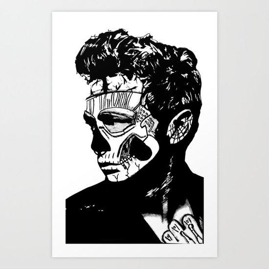 James Dean. Rebel: Zombie. Art Print