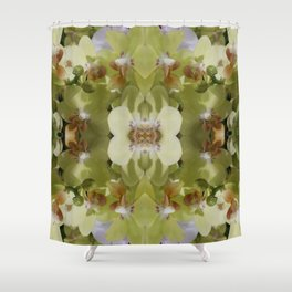 Orchid (Mandala-esque #123a) Shower Curtain