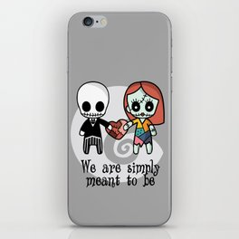 Jack and Sally - We are simply meant to be iPhone Skin