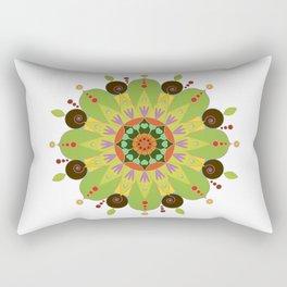 Mandala fleur, vert Rectangular Pillow
