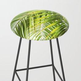 Palm leaves tropical illustration Bar Stool