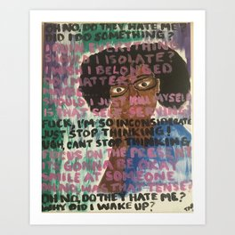 overthinking it Art Print