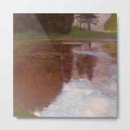 "Gustav Klimt ""Tranquil Pond (Egelsee near Golling, Salzburg)"" Metal Print"
