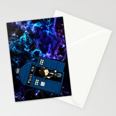 Tardis in space Doctor Who 2 Stationery Cards