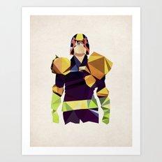 Polygon Heroes - Dredd Art Print