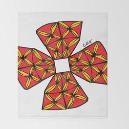 red tapa cross Throw Blanket