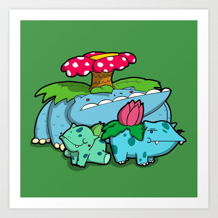 Pokémon - Number 1, 2 & 3 Art Print