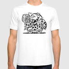 Lion Tamer White Mens Fitted Tee SMALL