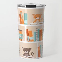Library cats Travel Mug