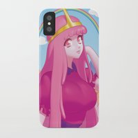 princess bubblegum iPhone & iPod Cases featuring Princess Bubblegum by quere