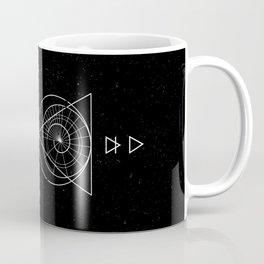 Espiral Triangle Black Coffee Mug