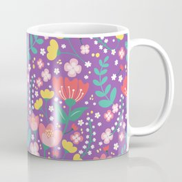 Flower lovers - Purple Coffee Mug