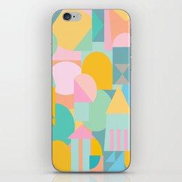 Pastel Shape Collage iPhone Skin