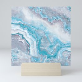 Ocean Foam Mermaid Marble Mini Art Print