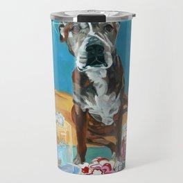 The Last Dessert Dog Portrait Travel Mug
