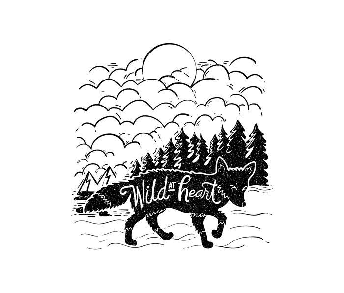 Wild At Heart Metal Travel Mug