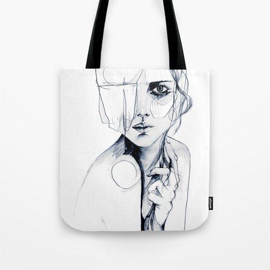 Sketch V Tote Bag