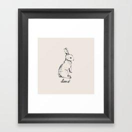 cheers little bunny Framed Art Print
