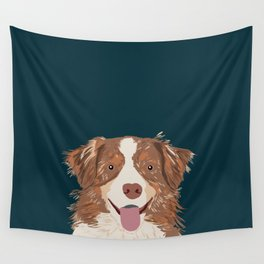 Hollis - Australian Shepherd gifts for dog owners pet lovers dog people gifts for dog person Wall Tapestry