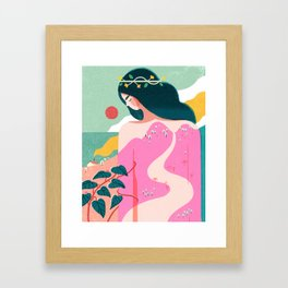 How to Befriend a Mountain Framed Art Print