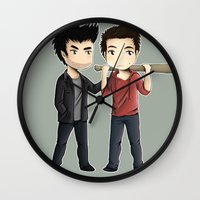 sterek Wall Clocks featuring Sterek by agartaart