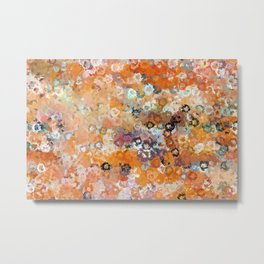 Blotchy Autumn Watercolor Pattern Metal Print
