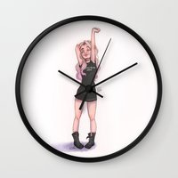 laia Wall Clocks featuring Soul Stretching by Laia™