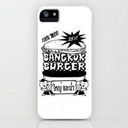 Bangkok Burger iPhone Case