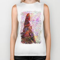 kandinsky Biker Tanks featuring DayDreaming - Intense Multi-Color Vibrant Abstract Mixed Media Digital Painting by Mark Compton